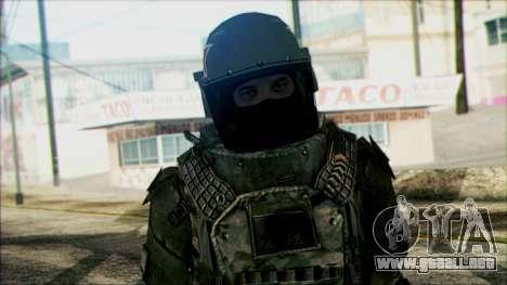 Los soldados aerotransportados (CoD: MW2) v3 para GTA San Andreas tercera pantalla
