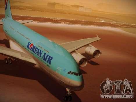 Airbus A380-800 Korean Air para GTA San Andreas left