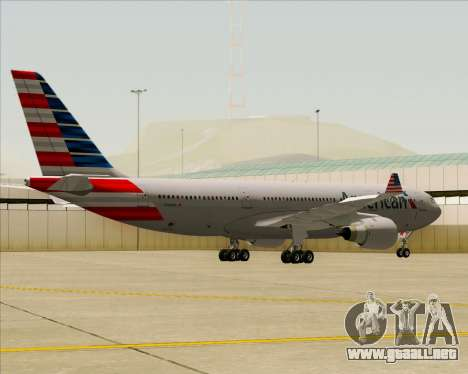 Airbus A330-200 American Airlines para GTA San Andreas vista hacia atrás