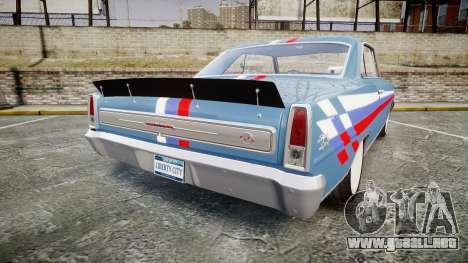 Chevrolet II Nova SS 1966 Custom [EPM] PJ2 para GTA 4 Vista posterior izquierda