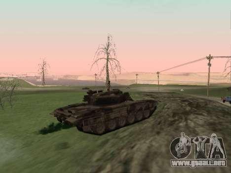 T-72 para GTA San Andreas vista posterior izquierda