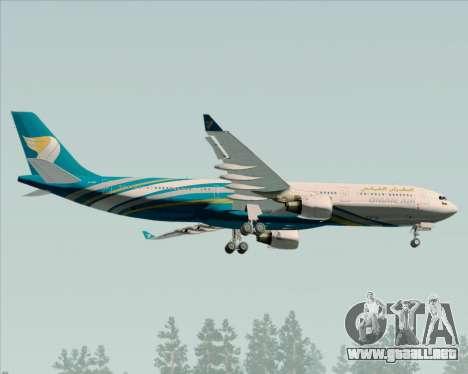 Airbus A330-300 Oman Air para la visión correcta GTA San Andreas