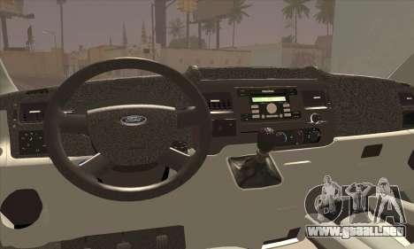 Ford Transit Limited Edition para GTA San Andreas vista posterior izquierda