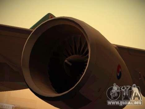 Airbus A380-800 Korean Air para GTA San Andreas interior