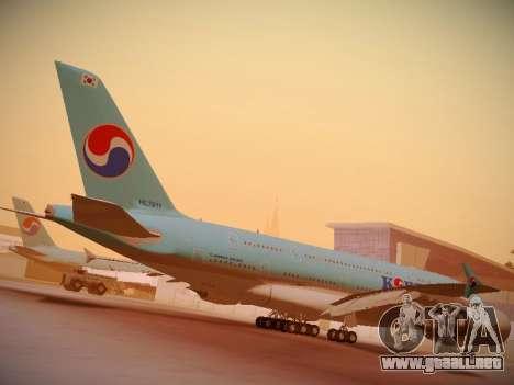 Airbus A380-800 Korean Air para la vista superior GTA San Andreas