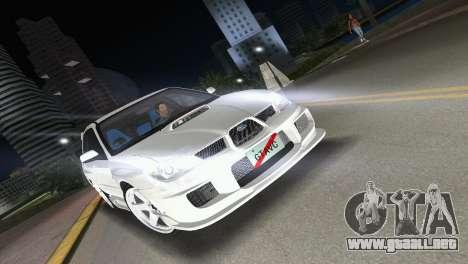 Subaru Impreza WRX STI 2006 Type 3 para GTA Vice City vista posterior