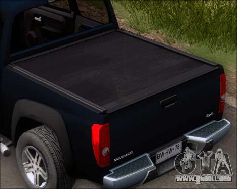 Chevrolet Colorado para la vista superior GTA San Andreas