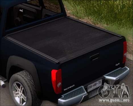 Chevrolet Colorado para la vista superior GTA San Andreas