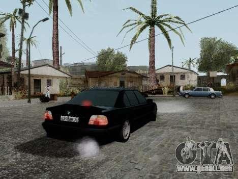BMW 760i E38 para GTA San Andreas vista posterior izquierda