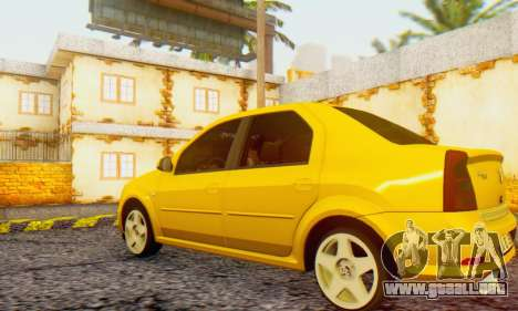 Dacia Logan Delta Garage para GTA San Andreas left
