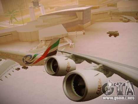 Airbus A380-800 Emirates Rugby World Cup para la vista superior GTA San Andreas