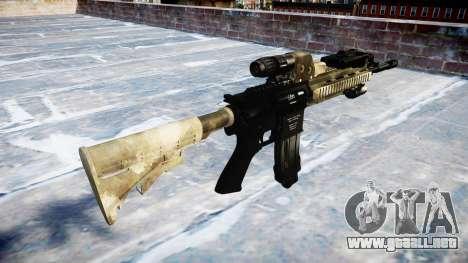 Automatic rifle Colt M4A1 mack hay para GTA 4 segundos de pantalla