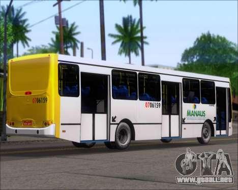 Caio Induscar Apache S21 Volksbus 17-210 Manaus para GTA San Andreas vista posterior izquierda