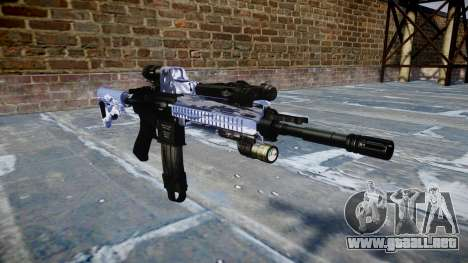 Automatic rifle Colt M4A1 azul tigre para GTA 4