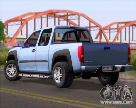 Chevrolet Colorado para GTA San Andreas left