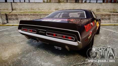 Dodge Challenger 1971 v2.2 PJ8 para GTA 4 Vista posterior izquierda