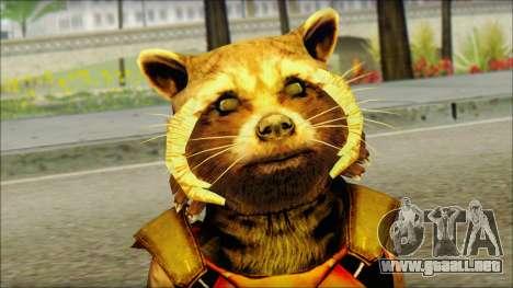 Guardians of the Galaxy Rocket Raccoon v2 para GTA San Andreas tercera pantalla