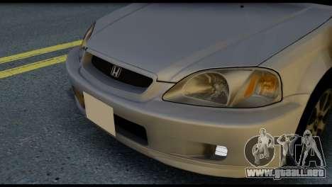 Honda Civic Si 1999 para visión interna GTA San Andreas