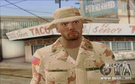 California National Guard Skin 1 para GTA San Andreas tercera pantalla
