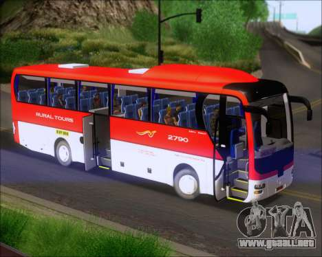 MAN Lion Coach Rural Tours 2790 para visión interna GTA San Andreas