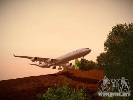 Airbus A340-600 South African Airways para visión interna GTA San Andreas
