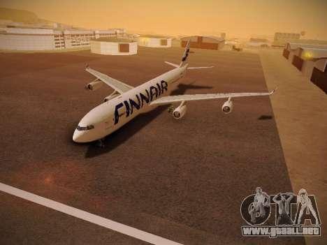 Airbus A340-300 Finnair para visión interna GTA San Andreas