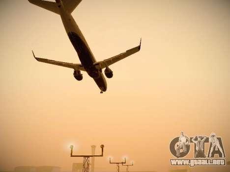 Embraer E190 Azul Brazilian Airlines para vista lateral GTA San Andreas
