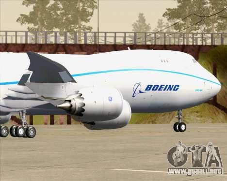 Boeing 747-8 Cargo House Livery para vista lateral GTA San Andreas