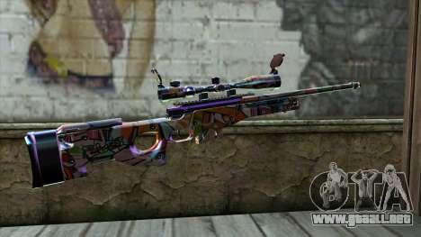 Graffiti Sniper Rifle para GTA San Andreas segunda pantalla