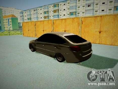 Lada Granta Liftback para GTA San Andreas vista posterior izquierda