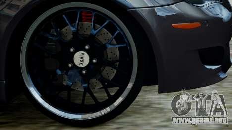 BMW M5 E60 v1 para GTA 4 visión correcta