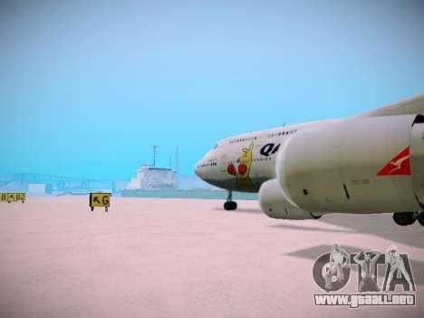 Boeing 747-438 Qantas Boxing Kangaroo para GTA San Andreas interior