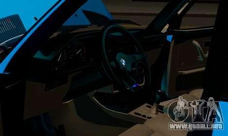 BMW M5 E28 para vista lateral GTA San Andreas