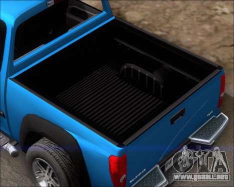 Chevrolet Colorado para vista lateral GTA San Andreas