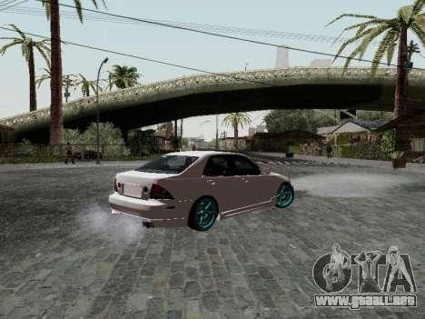 Toyota Altezza Addinol para GTA San Andreas left