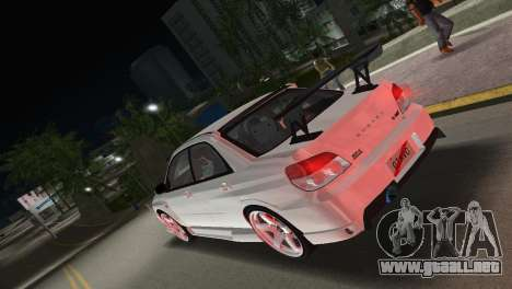 Subaru Impreza WRX STI 2006 Type 3 para GTA Vice City left
