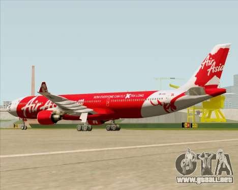 Airbus A330-300 Air Asia X para la visión correcta GTA San Andreas