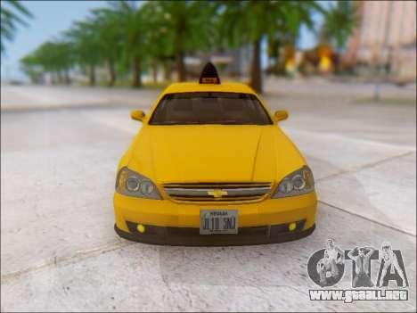 Chevrolet Evanda Taxi para la vista superior GTA San Andreas