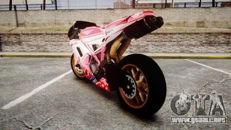 Ducati 1198 R para GTA 4 Vista posterior izquierda