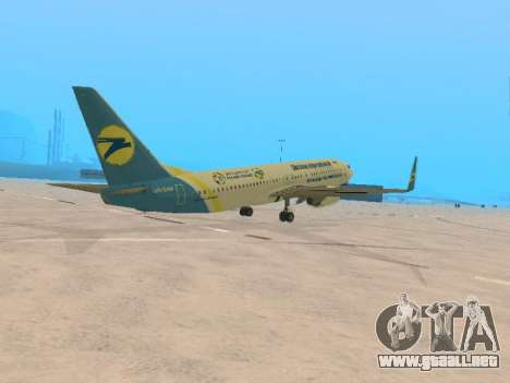 Boeing 737-84R Ukraine International Airlines para la visión correcta GTA San Andreas