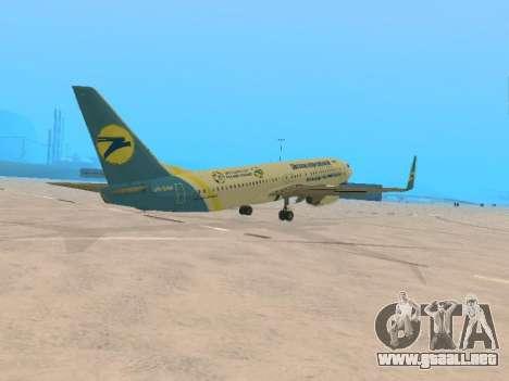 Boeing 737-84R Ukraine International Airlines para la visión correcta GTA San Andreas