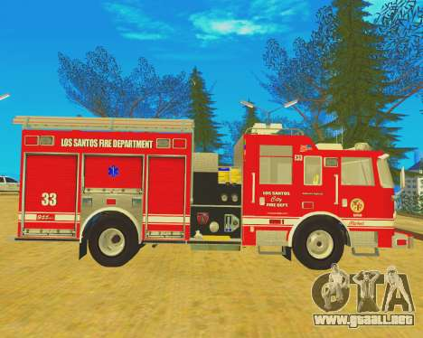 Pierce Arrow XT 2008 Los Santos Fire Department para GTA San Andreas left