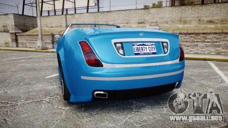 GTA V Enus Cognoscenti Cabrio para GTA 4 Vista posterior izquierda