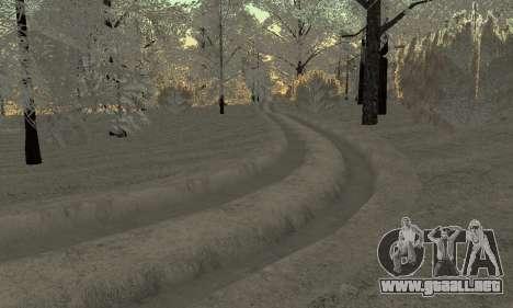 Nieve para GTA Penal de Rusia beta 2 para GTA San Andreas séptima pantalla