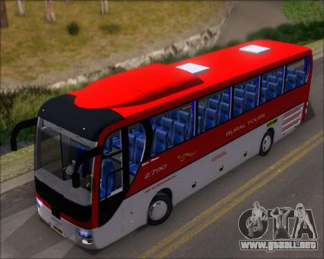MAN Lion Coach Rural Tours 2790 para GTA San Andreas vista hacia atrás