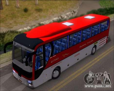 MAN Lion Coach Rural Tours 2790 para GTA San Andreas vista hacia atrás