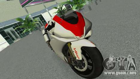 Aprilia RSV4 2009 Gray Edition para GTA Vice City visión correcta