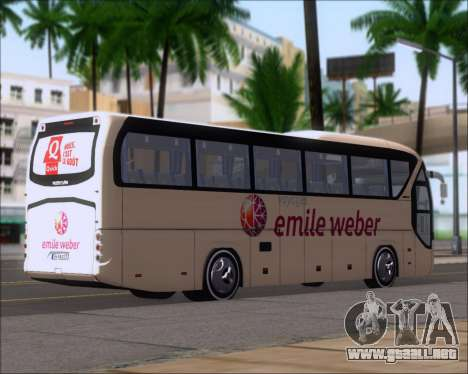 Neoplan Tourliner Emile Weber para GTA San Andreas vista posterior izquierda