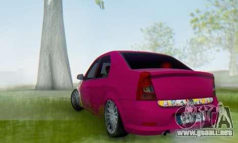 Dacia Logan 2013 para GTA San Andreas vista posterior izquierda
