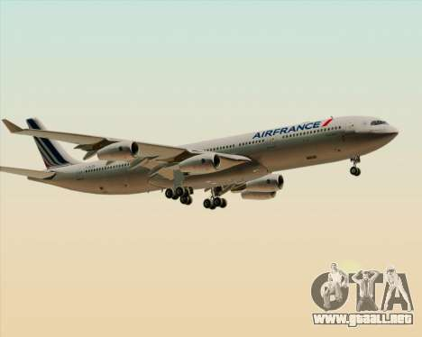 Airbus A340-313 Air France (New Livery) para las ruedas de GTA San Andreas